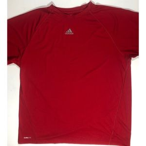 Adidas climalite shirt size XL. Red. Excellent.